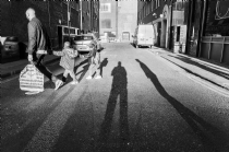 Casting shadow - street photography