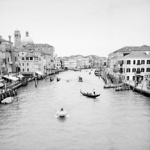 View from Ponte di Rialto II, Venice 2011 - black and white photography