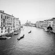 Santa Maria della Salute from Ponte Accademia II, Venice 2011 - black and white photography