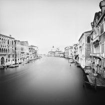 Santa Maria della Salute from Ponte Accademia, Venice 2011 - black and white photography