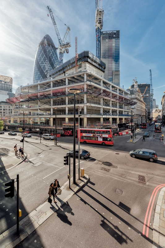 100 Bishopsgate London September 2016 - Concrete Tower