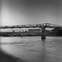 Millennium Bridge - black and white photography