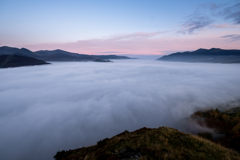 Derwentwater covered by Fog - Landscape