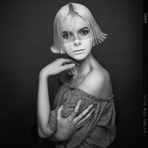 Portrait Photograph-Face Mask-Ilford FP4+ - black and white photography