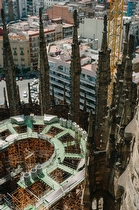 Sagrada Familia Building Site in 2003  - travel photography